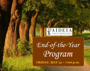 End-of-the-Year Program – Friday, May 15, 7:00 p.m.