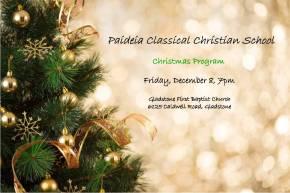 Paideia Christmas Program