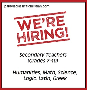 Wanted: Teachers Who Love Christ and Love Students!